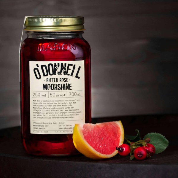 O´DONNELL - MOONSHINE Bitter Rose 700ml 25%vol.