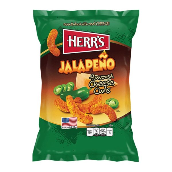 Herr´s Jalapeno Cheese Curls 199g Beutel