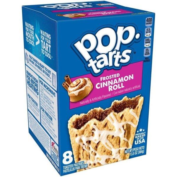 Kelloggs Pop-Tarts Frosted Cinnamon Roll - 8 Stück - 384g