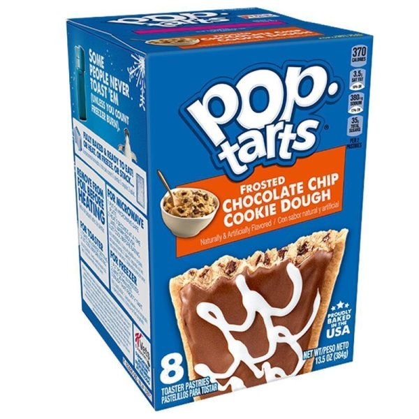 Kelloggs Pop-Tarts Frosted Chocolate Chip Cookie Dough - 8 Stück - 384g