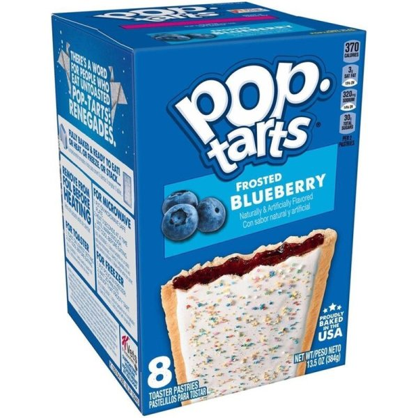 Kelloggs Pop-Tarts Frosted Blueberry - 8 Stück - 384g