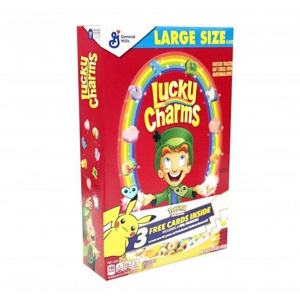 Lucky Charms - Cerealien mit Marshmallows - Gluten Frei - 25th Pokemon Jubiläums Edition LARGE SIZE 422g