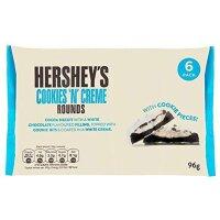 Hersheys - Cookies N Cream Rounds 6er Pack - 96g