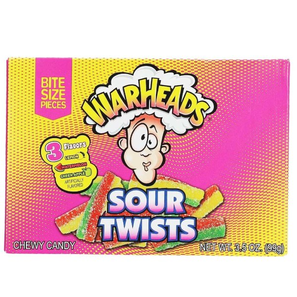 Warheads Chew Candy Sour Twist Theatre Box - 99g