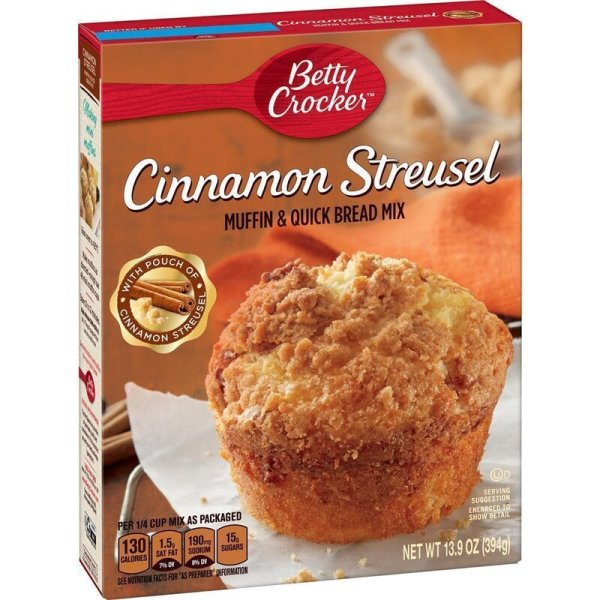 Betty Crocker Cinnamon Streusel Muffin and Quick Bread Mix - 394 g