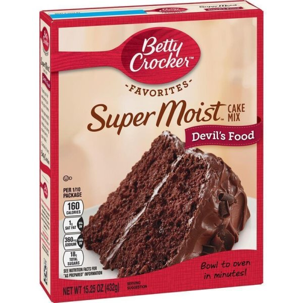 Betty Crocker Super Moist Devils Food Cake Mix 432 g