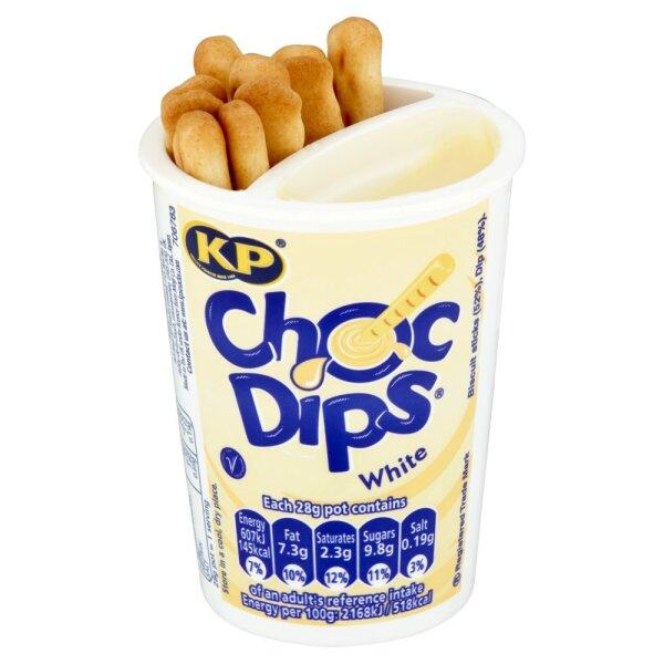 KP Snacks Choc Dips White