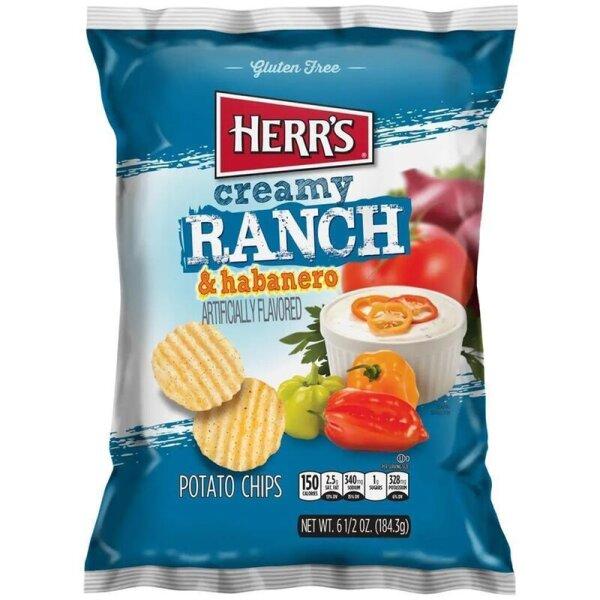 Herr´s Creamy Ranch and Habanero Potato Chips 184g Beutel