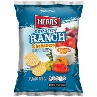 Herr´s Creamy Ranch and Habanero Potato Chips 184g...