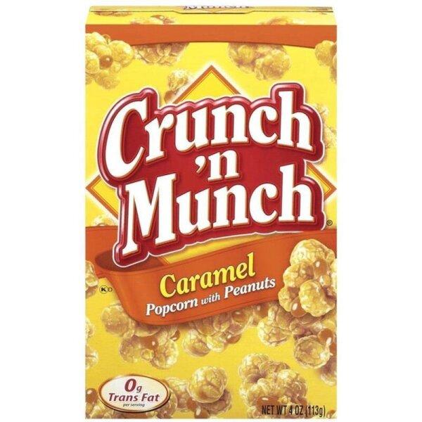 Crunch n Munch Caramel Popcorn mit Erdnüssen 99g