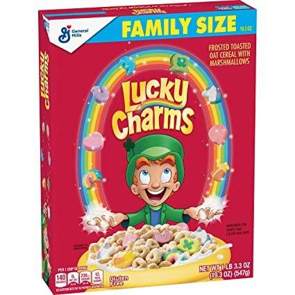 Lucky Charms - Cerealien mit Marshmallows - Gluten Frei - FAMILY SIZE 547g