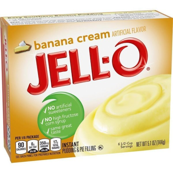 Jell-O Banana Cream Instant Pudding & Pie Filling 144g