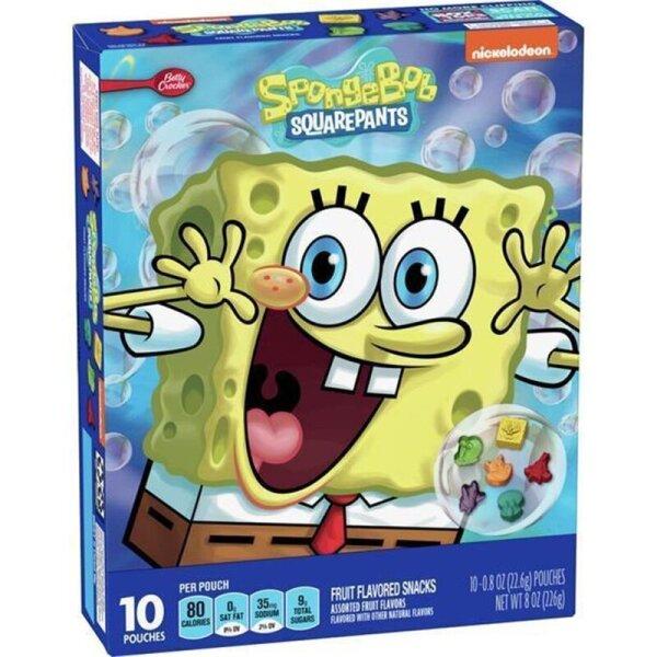 Betty Crocker Spongebob Fruit Flavored Snack 226g