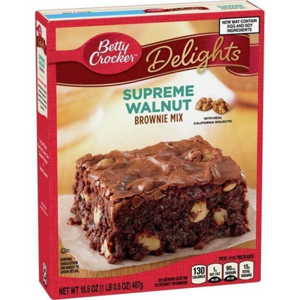 Betty Crocker Supreme Walnut Brownie Mix 467g