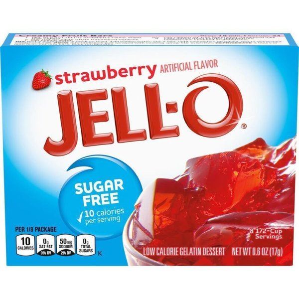 Jell-O Sugar Free Strawberry Gelatin Dessert 17g