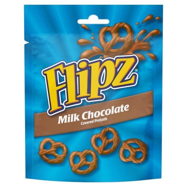 Flipz Milk Chocolate coated Pretzels 90g