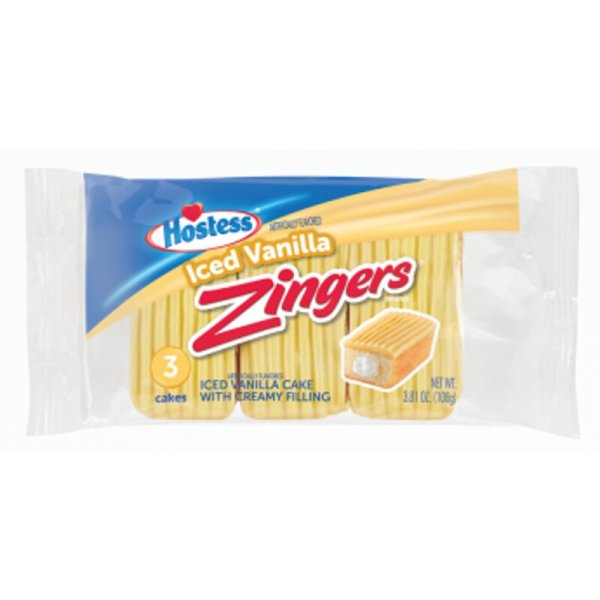 Hostess - Zingers Iced Vanilla 3er Pack 108g