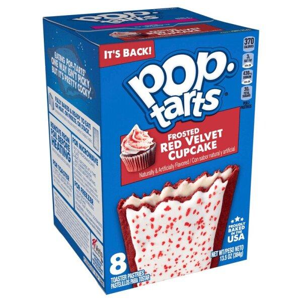 Kelloggs Pop-Tarts Frosted Red Velvet Cupcake - 8 Stück 384g