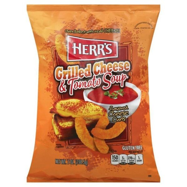 Herr´s Grilled Cheese & Tomato Soup flavored Cheese Curls 170g Beutel