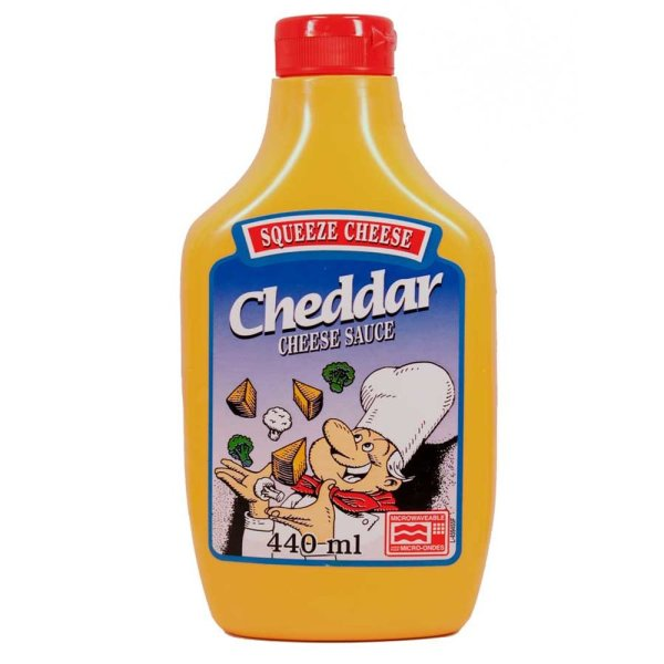 Squeeze Cheese Cheddar Cheese Sauce 440ml