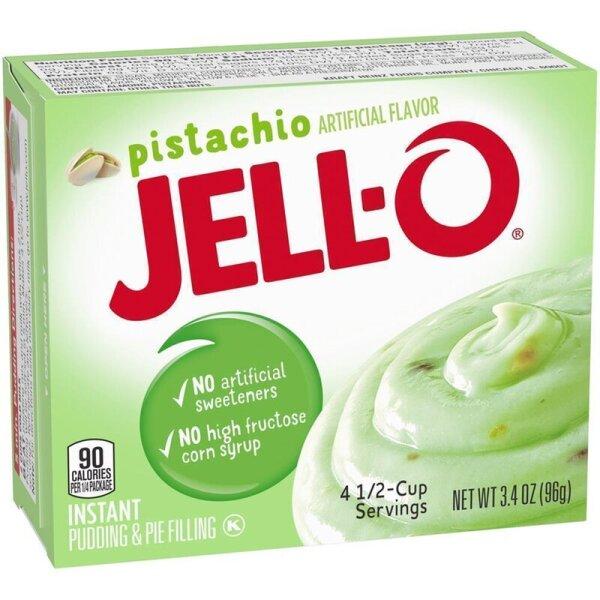 Jell-O Pistachio Instant Puddingpulver mit Pistaziengeschmack 96g