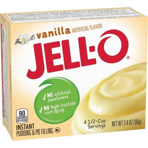 Jell-O Vanilla Instant Puddingpulver mit Vanillegschmack 96g