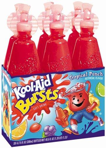Kool Aid Bursts Tropical Punch 6 Pack 1,2 Liter