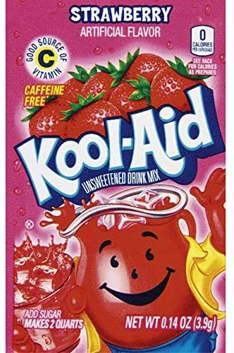 Kool Aid Unsweetened Drink Mix Strawberry 3,6 g