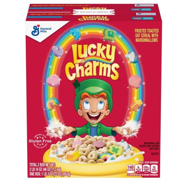 General Mills - Lucky Charms - Cerealien mit Marshmallows 2x652g