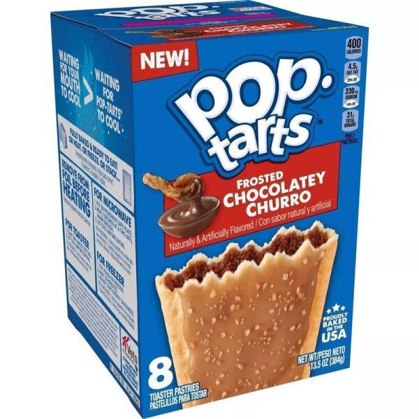 Kelloggs Pop-Tarts Frosted Chocolatey Churro - 8 Stück - 384g