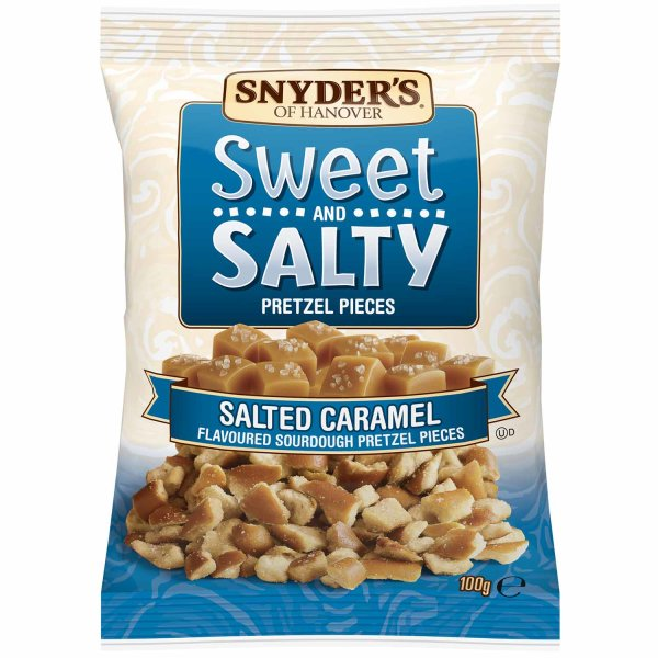 Snyders Sweet and Salty Pretzel Pieces 100g
