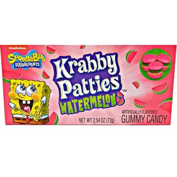 Spongebob Squarepants - Krabby Patties Watermelon 72g