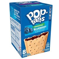 Kelloggs Pop-Tarts Unfrosted Blueberry - 8 Stück - 384g