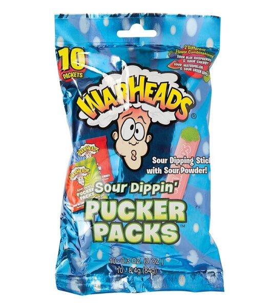Warheads Sour Dippin Pucker Packs 84g