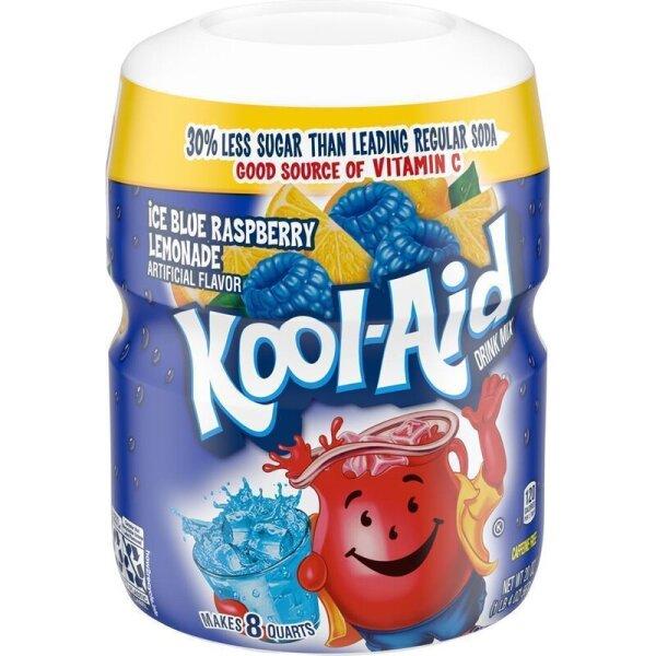Kool Aid Drink Mix Ice Blue Raspberry Lemonade 567g