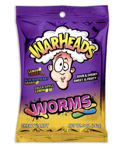 Warheads Sour Worms 142g
