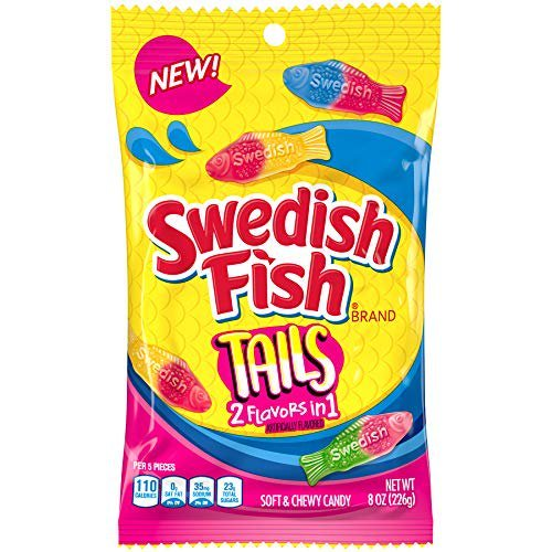 Swedish Fish - Tails 2 Flavors in 1 - 141g