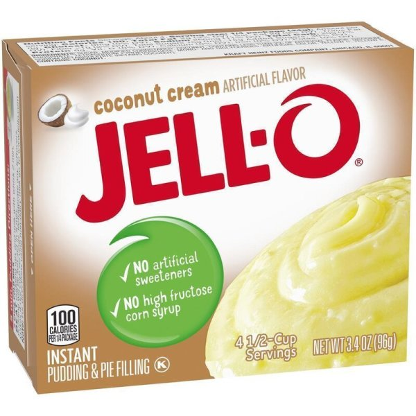 Jell-O Coconut Cream Instant Pudding & Pie Filling 96g
