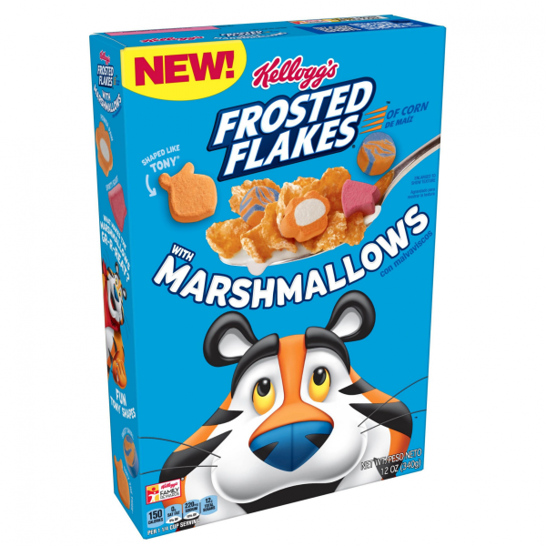 Kelloggs Frosted Flakes Cereal with Marshmallows 340g