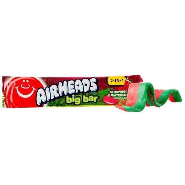 Airheads Big Bar 2-in-1 Strawberry & Watermelon 42,5g