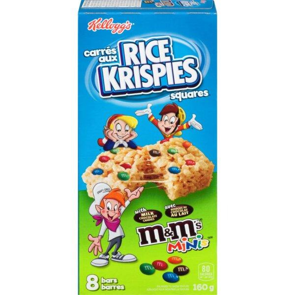 Kelloggs Rice Krispies Squares mit m&ms minis 160g