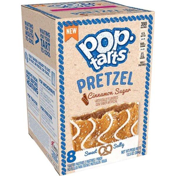 Kelloggs Pop-Tarts Pretzel Cinnamon Sugar - 8 Stück - 384g