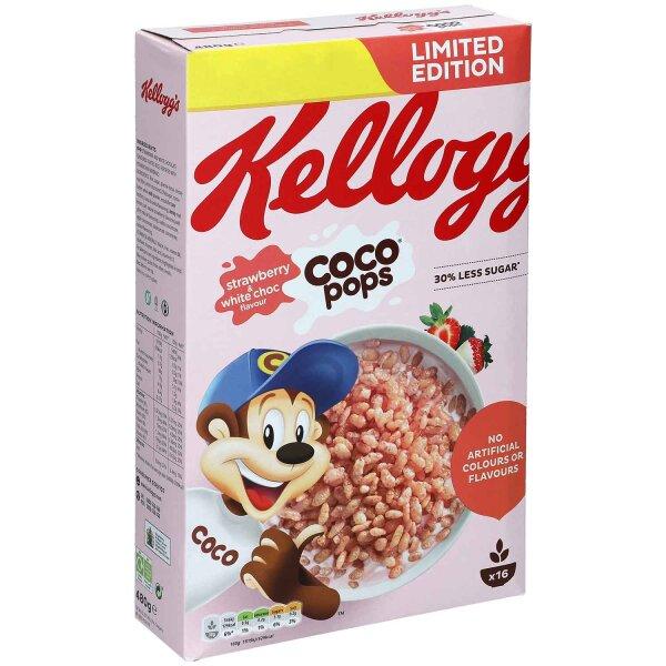Kelloggs Coco Pops Strawberry & White Choc 480g